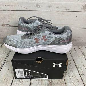 Under Armour UA Surge Running Shoe Gray/Blush 9.5M